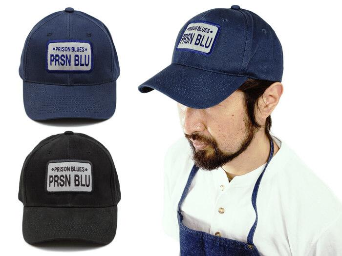 リズンブルース PRISON BLUES ロゴベースボールキャップ リンスドブルー ブラック ワークキャップ 帽子