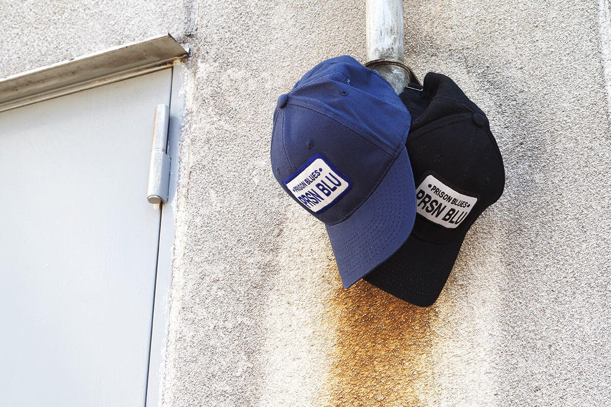 プリズンブルース PRISON BLUES ロゴベースボールキャップ リンスドブルー ワークキャップ 帽子