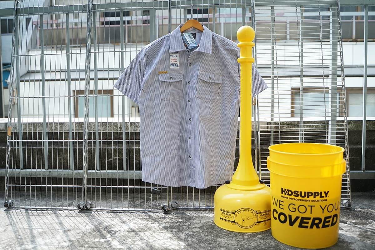 プリズンブルース PRISON BLUES 半袖 8オンス ヒッコリーストライプ ワークシャツ アメリカ製 米国製 HICKORY STRIPE WORK SHIRT