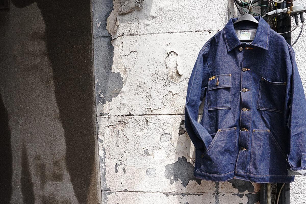 プリズンブルース PRISON BLUES デニムヤードコート リジッドブルー 別注レッドフォックスステッチ アメリカ製 米国製 カバーオール