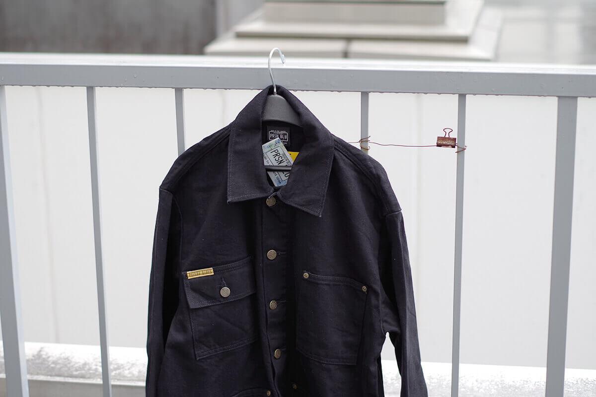 プリズンブルース PRISON BLUES デニムヤードコート 別注リンスドブラック アメリカ製 米国製 カバーオール