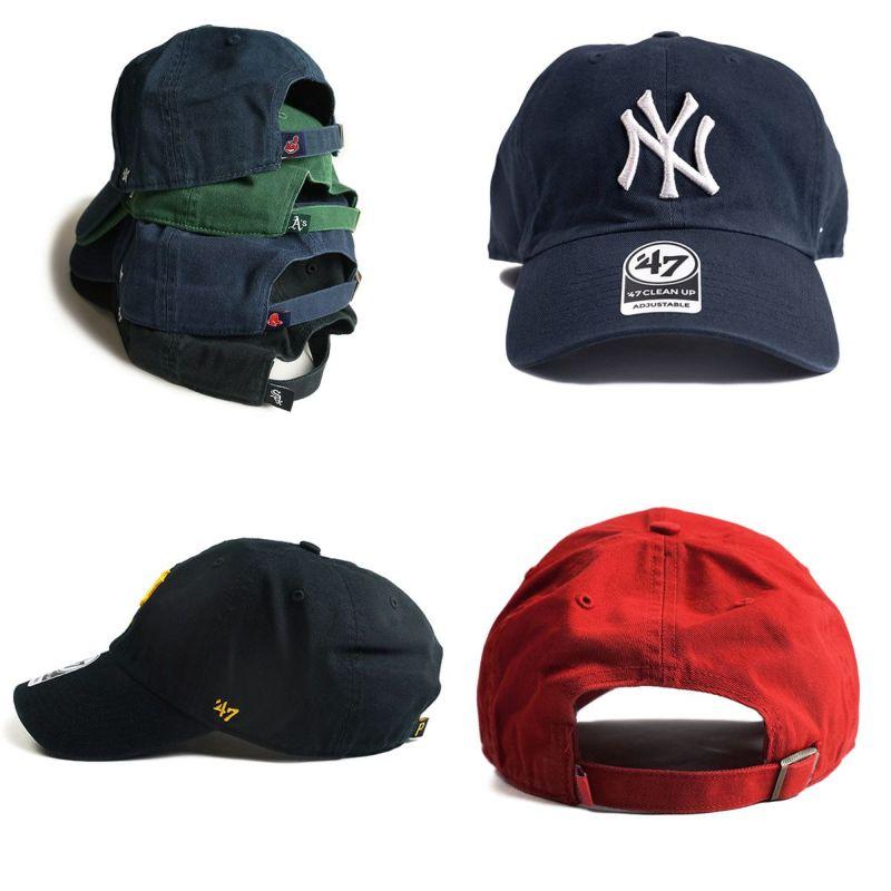47ブランドクリーンナップメジャーリーグ公式(ベースボールキャップフォーティーセブンMLBヤンキースエンジェルス)