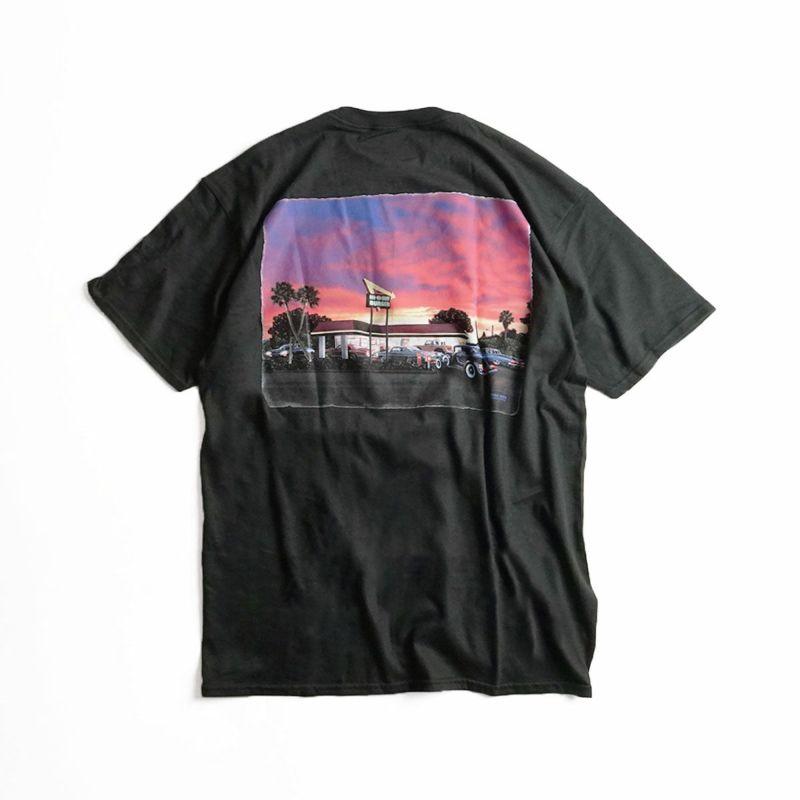 インアンドアウトバーガー半袖Tシャツ2020カリフォルニアサンセットブラック(メンズS-XXLIn-N-OutBurgerご当地Tシャツ海外買い付け)