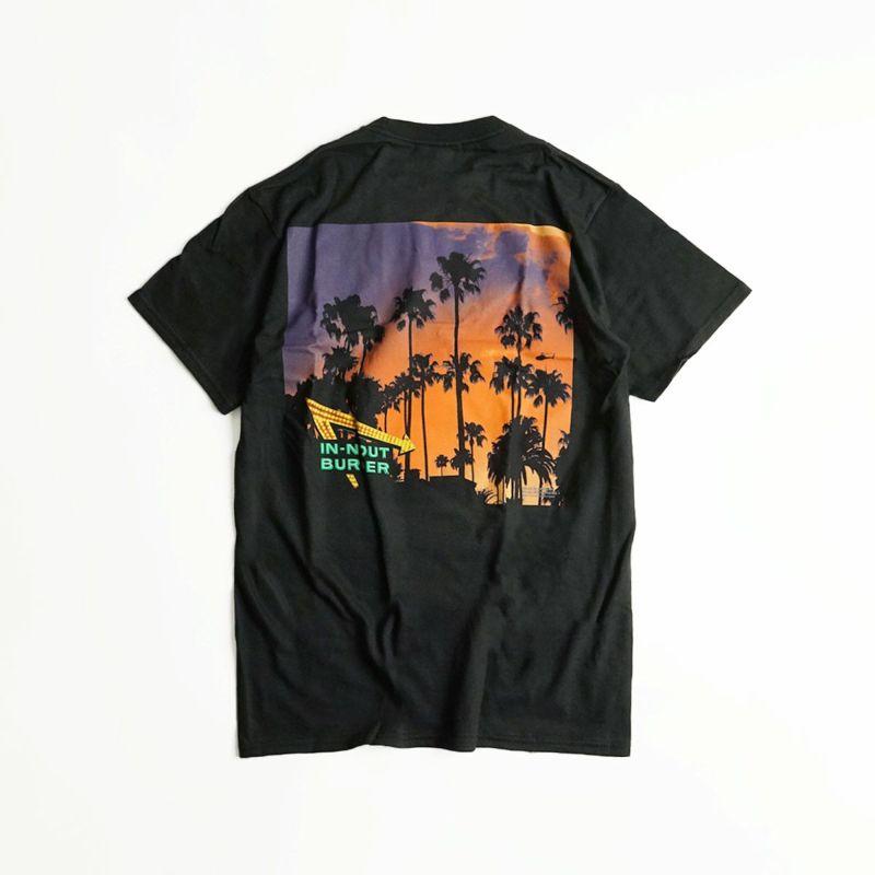 インアンドアウトバーガー半袖Tシャツ2017ブラックカリフォルニアドリーミンブラック(メンズS-XXLIn-N-OutBurgerご当地Tシャツ海外買い付け)
