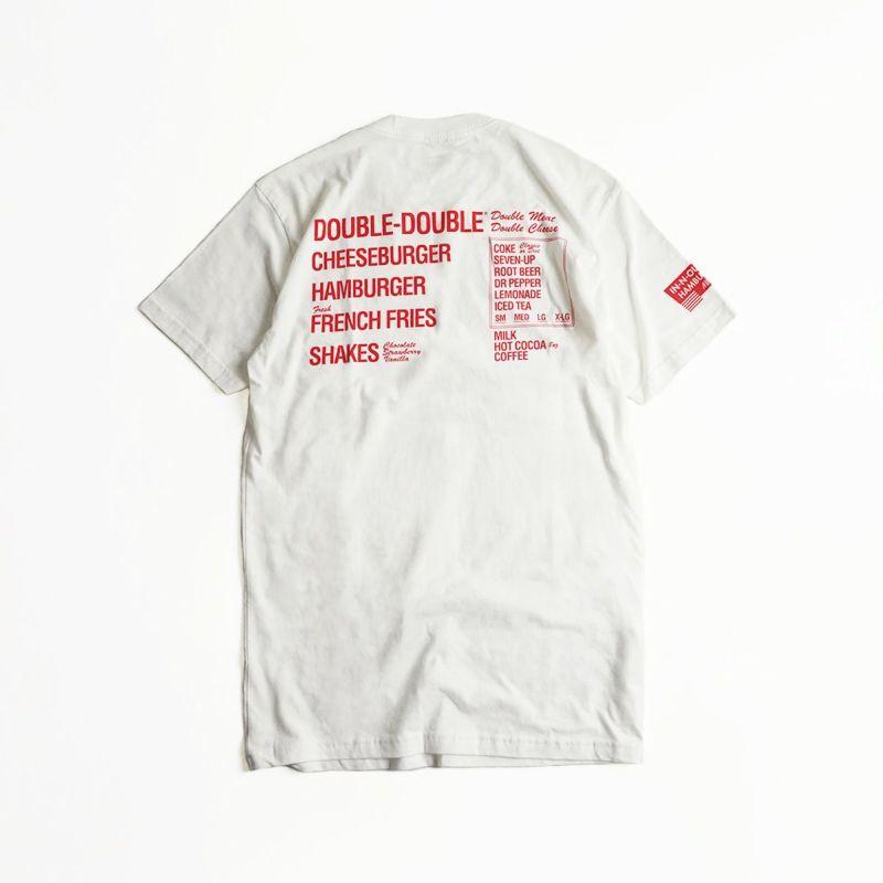 インアンドアウトバーガー半袖Tシャツメニューホワイト(メンズS-XXLIn-N-OutBurgerご当地Tシャツ