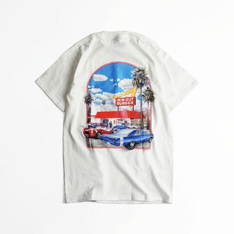インアンドアウトバーガー半袖Tシャツ2000ミレニアムホワイト(メンズS-XXLIn-N-OutBurgerご当地Tシャツ海外買い付け)