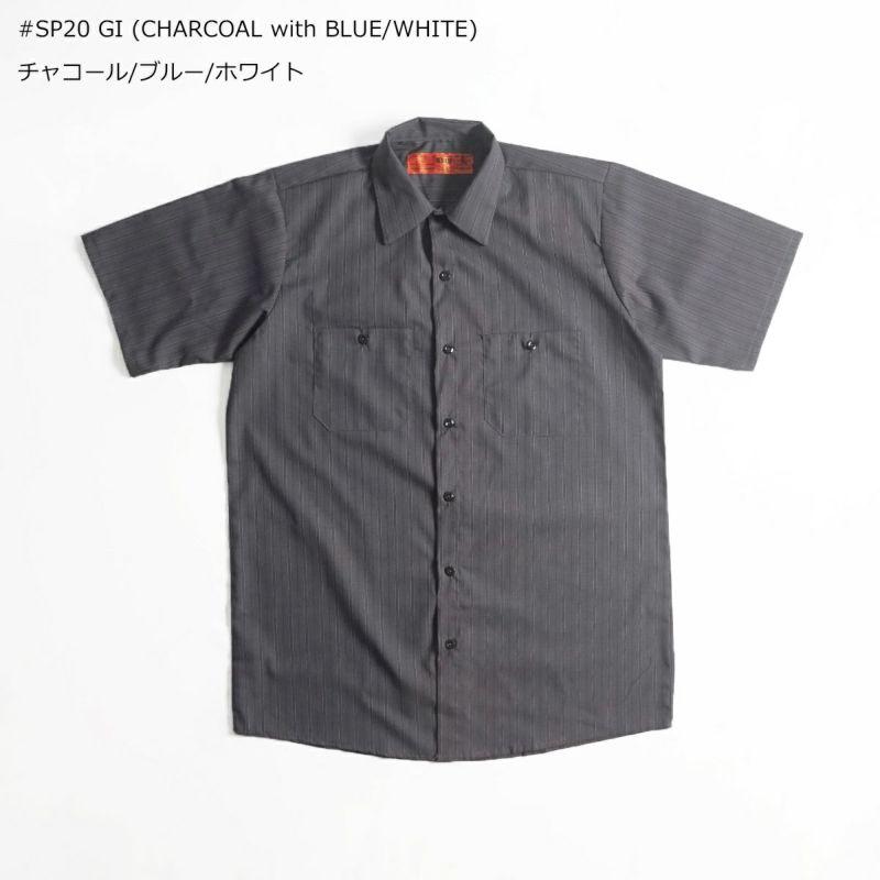 レッドキャップREDKAP#SP20半袖ストライプワークシャツ