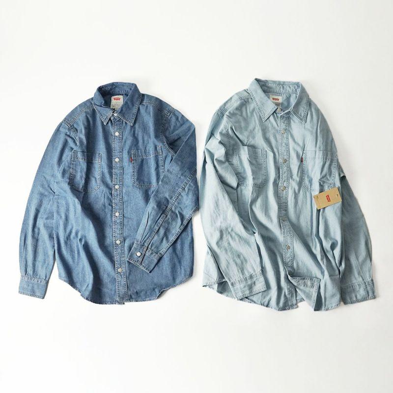 リーバイスLEVI'Sクラッシックデニムワークシャツ(メンズS-XXL長袖DENIMWORKSHIRT)