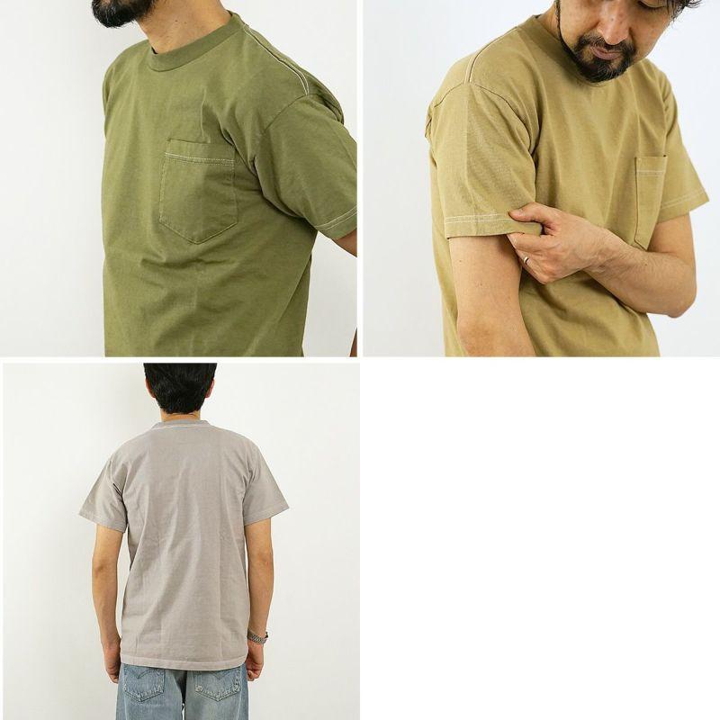 ベイサイドBAYSIDE3015JALOVER-DYEJalana別注後染め7オンス半袖ポケットTシャツユニオンメイド(無地アメリカ製米国製)