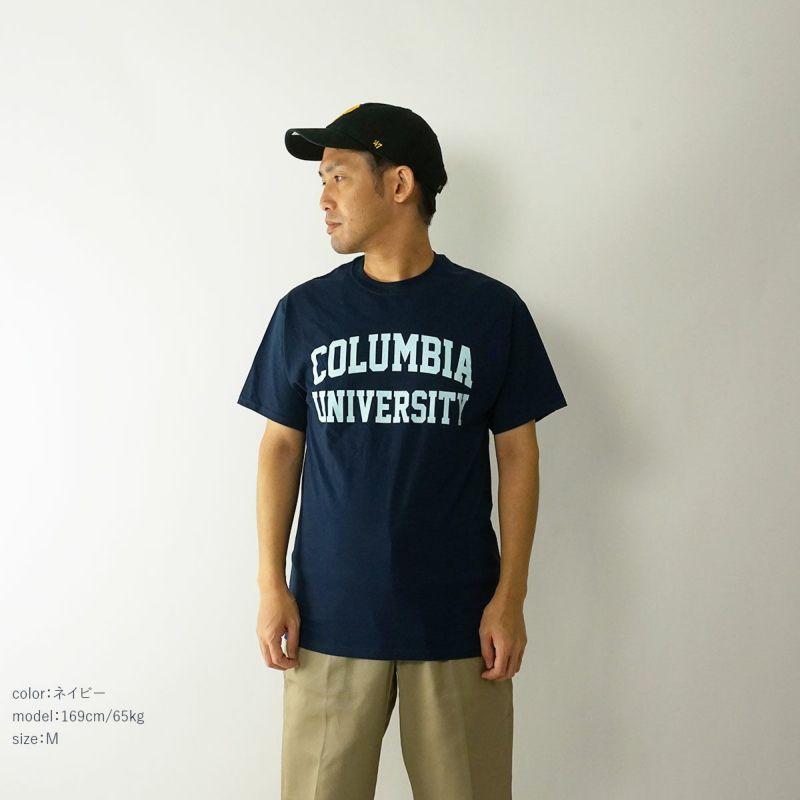 COLUMBIAUNIVERSITYロゴTシャツ(メンズS-XXLカレッジTシャツアイオワ大学海外買い付け)