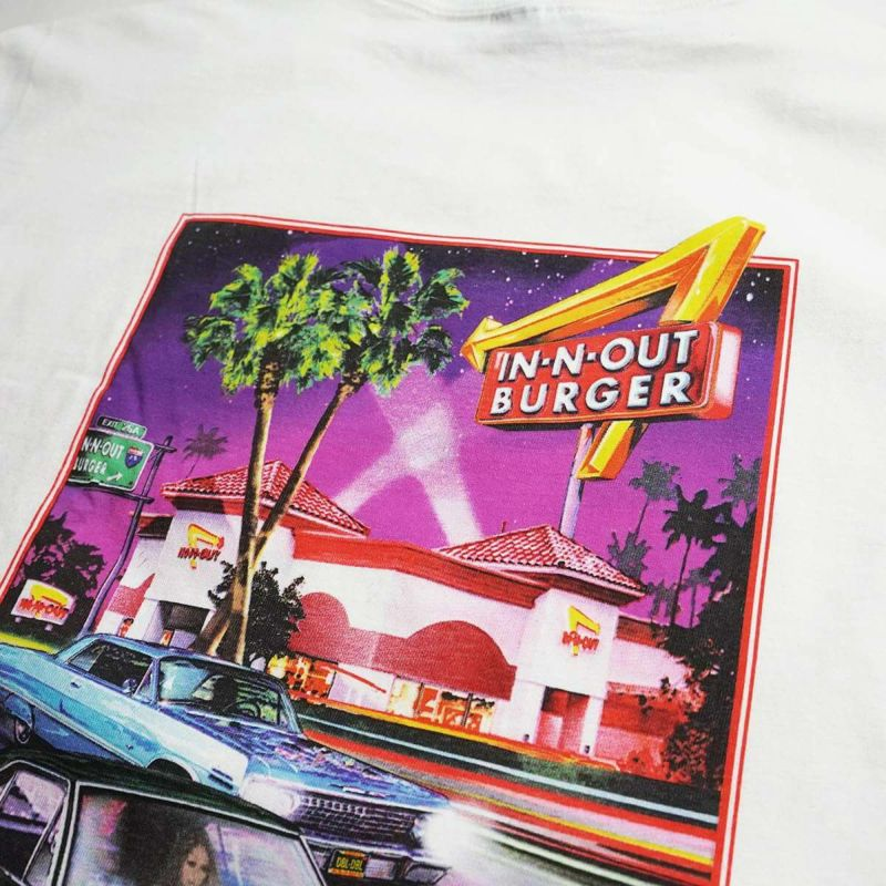 インアンドアウトバーガー半袖Tシャツ2004フレッシュアンドファーストカリフォルニアホワイト(メンズS-XXLIn-N-OutBurgerご当地Tシャツ海外買い付け)