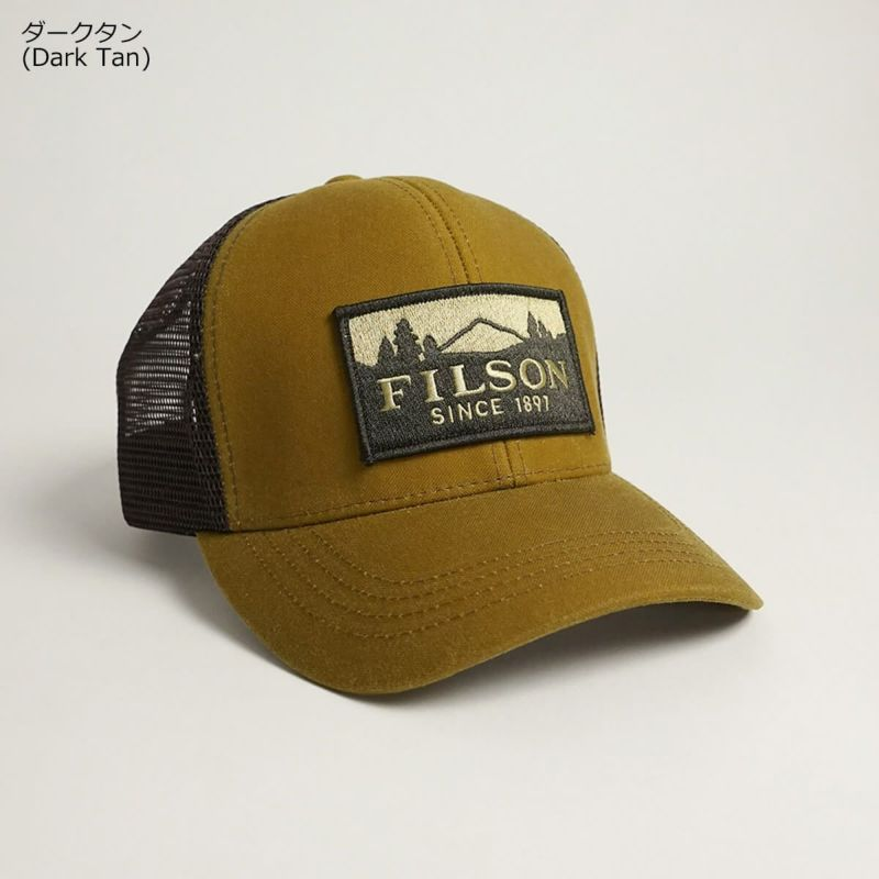 フィルソンFILSONロガーメッシュキャップ(メンズレディースユニセックスサイズフリーオイルドティンクロス帽子ベースボールキャップトラッカーキャップ)