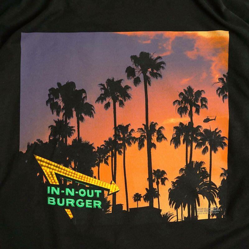 インアンドアウトバーガー長袖Tシャツ2017ブラックカリフォルニアドリーミンブラック(メンズS-XXLIn-N-OutBurgerご当地TシャツロンT海外買い付け)