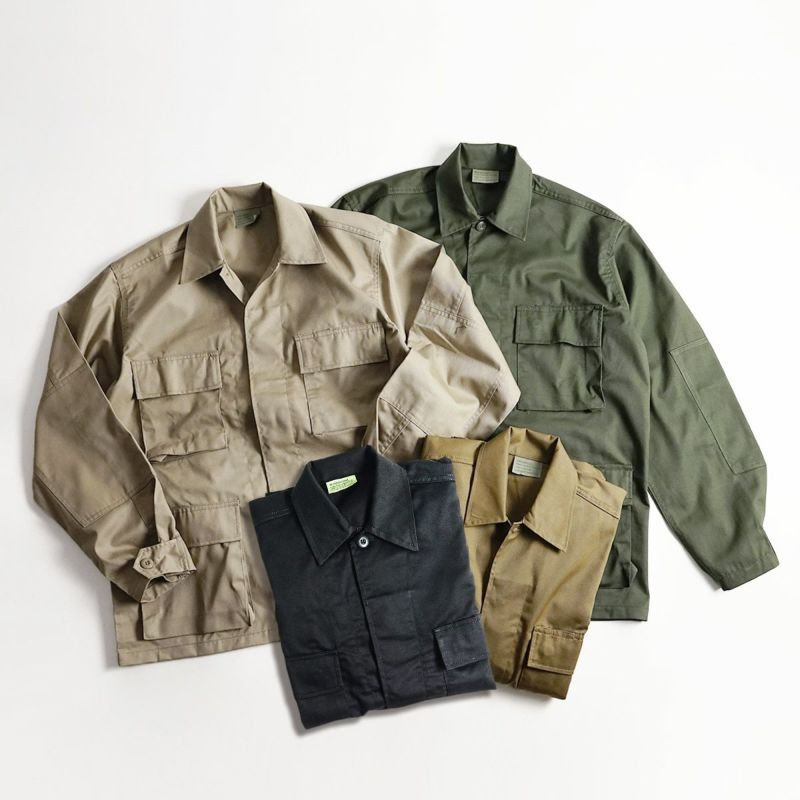 ロスコROTHCOコットンポリツイルタクティカルBDUシャツ(メンズS-XLミリタリーシャツミリタリージャケット)