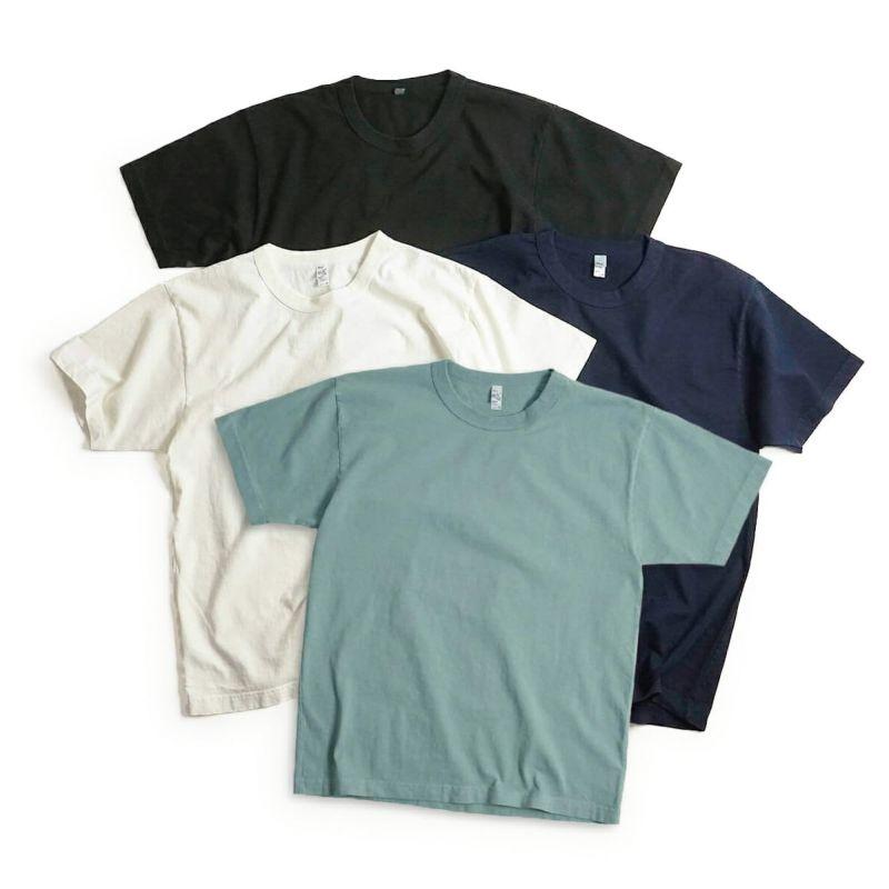 ロサンゼルスアパレルLOSANGELSAPPAREL1203GD8.5オンス半袖バインディングガーメントダイTシャツ(メンズS-XLヘビーオンスアメリカ製米国製無地)
